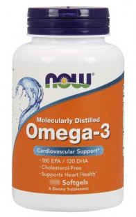 NOW Omega 3 1000 мг (30 капс)